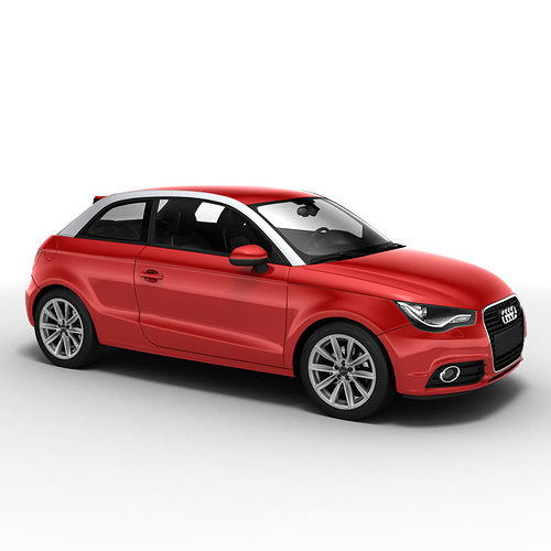 3d model audi a1 2010 car cgtrader. Black Bedroom Furniture Sets. Home Design Ideas