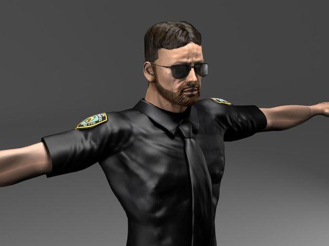 Police3D model