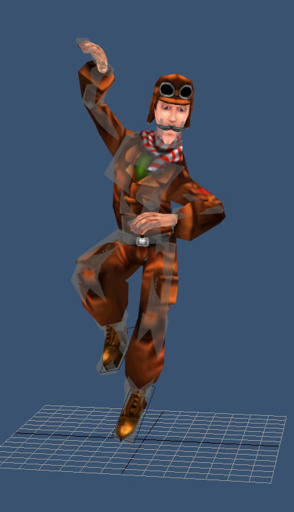 Low Poly Pilot 3D Model Game Ready Rigged .max .obj .3ds