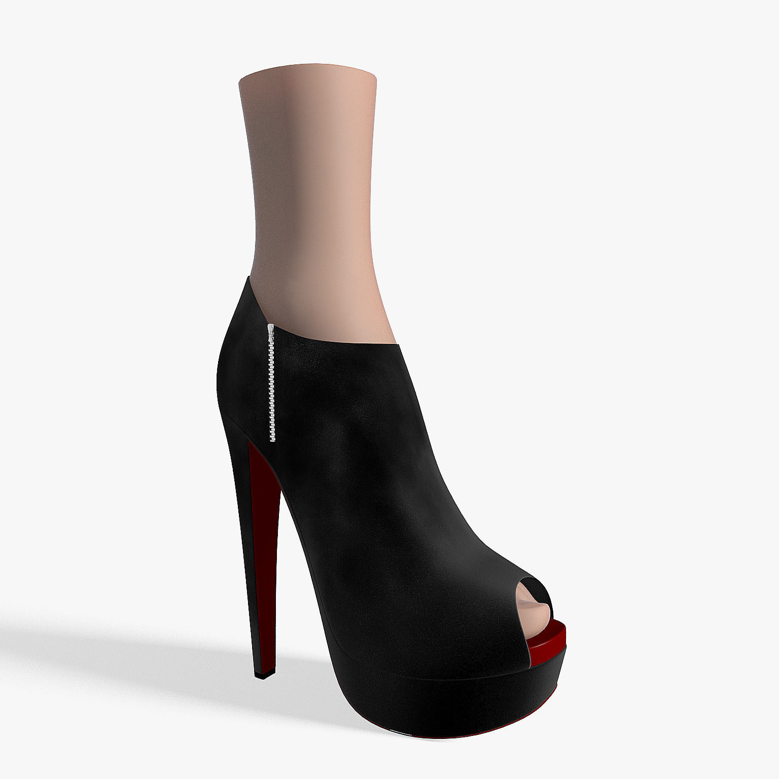 Ankle boots suede 3d model max obj 3ds fbx for New model boot