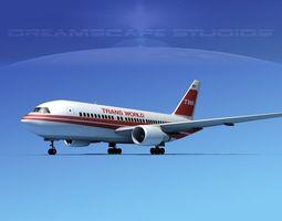 Boeing 767-100 Trans World 1 3D Model