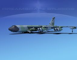 3D Boeing B-52H Stratofortress V02