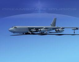 rigged boeing b-52h stratofortress v03 3d