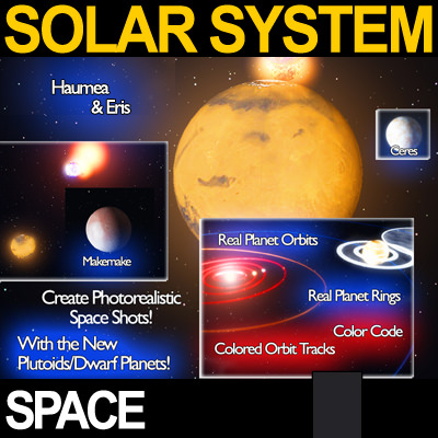 solar system planets photoreal 3d cgtrader