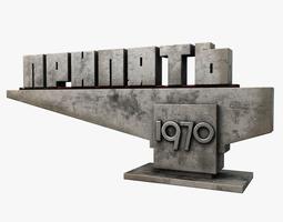 Pripyat City Sign 3D model
