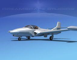 Cessna T-37 Tweetybird Bare Metal 3D Model