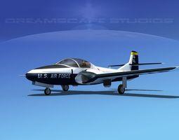 Cessna T-37 Tweetybird V02 USAF 3D Model