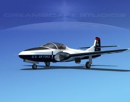 Cessna T-37 Tweetybird V05 USAF 3D Model