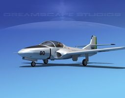 Cessna T-37 Tweetybird Brazil 3D Model