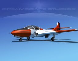 Cessna T-37 Tweetybird Chile 3D Model