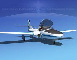 Cessna T-37 Tweetybird V17 Civil Sport 3D Model