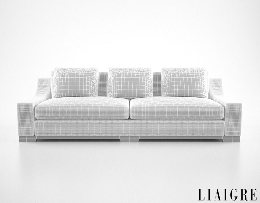 Christian Liaigre Vauban Sofa 3D Model MAX OBJ FBX