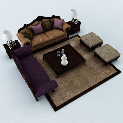 Sofa set 0463D model