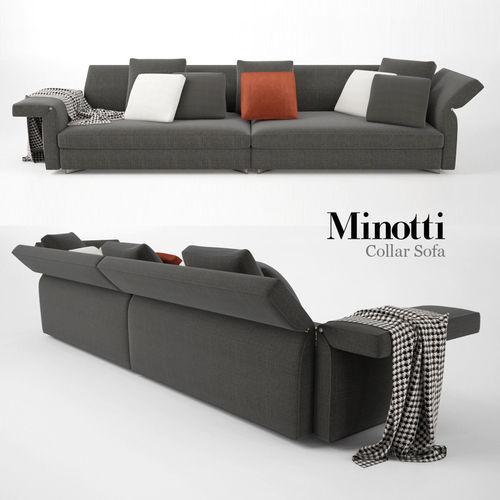Minotti Collar Sofa 013D model