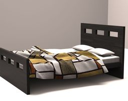 3D Contemporary Bed wood