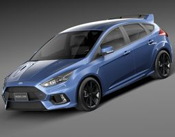 Ford Focus RS 2016 3D Model