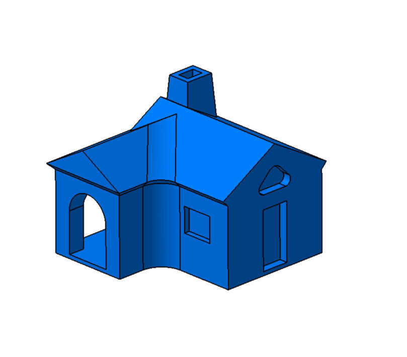 Tiny House Free 3D Model 3D Printable .stp