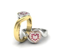 the heart ring 3d model stl 3dm