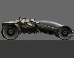 Futuristic Car Game-Ready 3D model