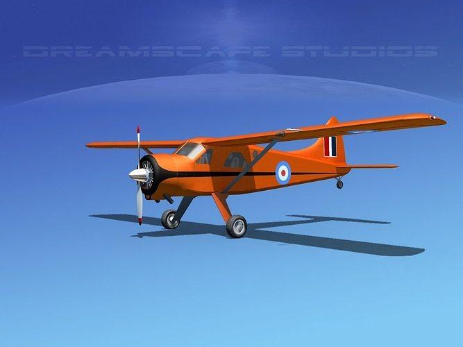 dehaviland dh-2 beaver rnzaf 3d model max obj mtl 3ds lwo lw lws dxf stl 1