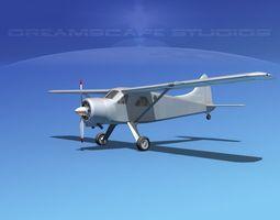 3d model dehaviland dh-2 bare metal rigged