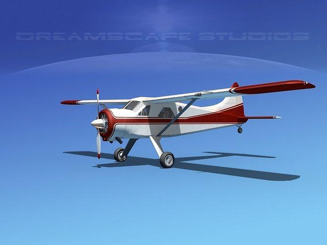 dehaviland dh-2 beaver sl11 3d model max obj mtl 3ds lwo lw lws dxf stl 1
