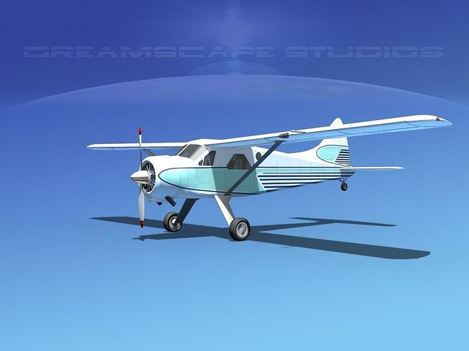 dehaviland dh-2 beaver sl15 3d model max obj mtl 3ds lwo lw lws dxf stl 1