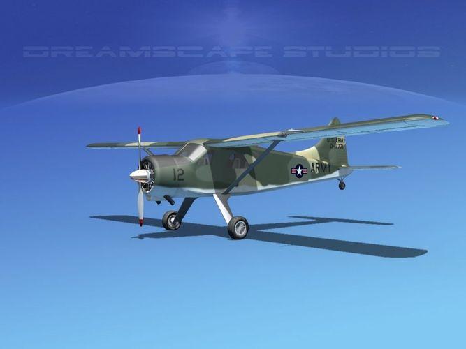 Dehaviland DH-2 Beaver US Army 33D model
