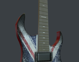 3D model Jeckson Britain Electra guitar