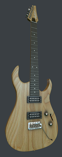 wood electra guitar 3d model max obj mtl 1