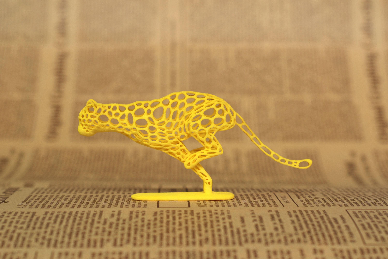cheetah voronoi wireframe 3d model 3d printable stl
