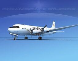 3D Douglas DC-6 Air Canada