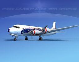 Douglas DC-6 Eastern Airlines 1 3D Model