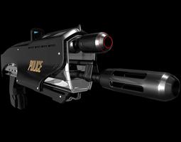 3d sci-fi gun