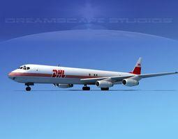 Douglas DC-8-63F DHL Cargo 1 3D Model