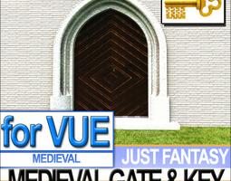 Medieval Gate Medieval Key 3D Model