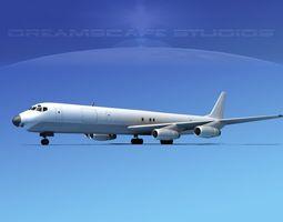Douglas DC-8-63F Unmarked 1 3D Model