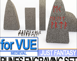 Runes Engraving Set 3D Model