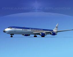 Douglas DC-8-63 Air Charter Intl 1 3D Model