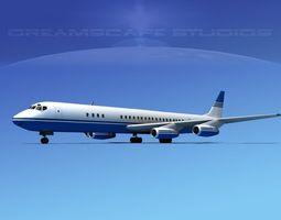 Douglas DC-8-63 Corporate 1 3D Model