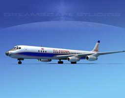 Douglas DC-8-63 Eastern Airlines 1 3D Model