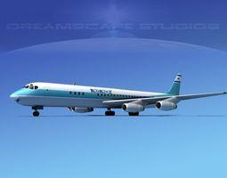 Douglas DC-8-63 EL AL 3D model