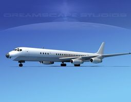 Douglas DC-8-63 Unmarked 1 3D Model