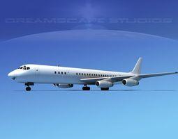 Douglas DC-8-63 Unmarked 2 3D