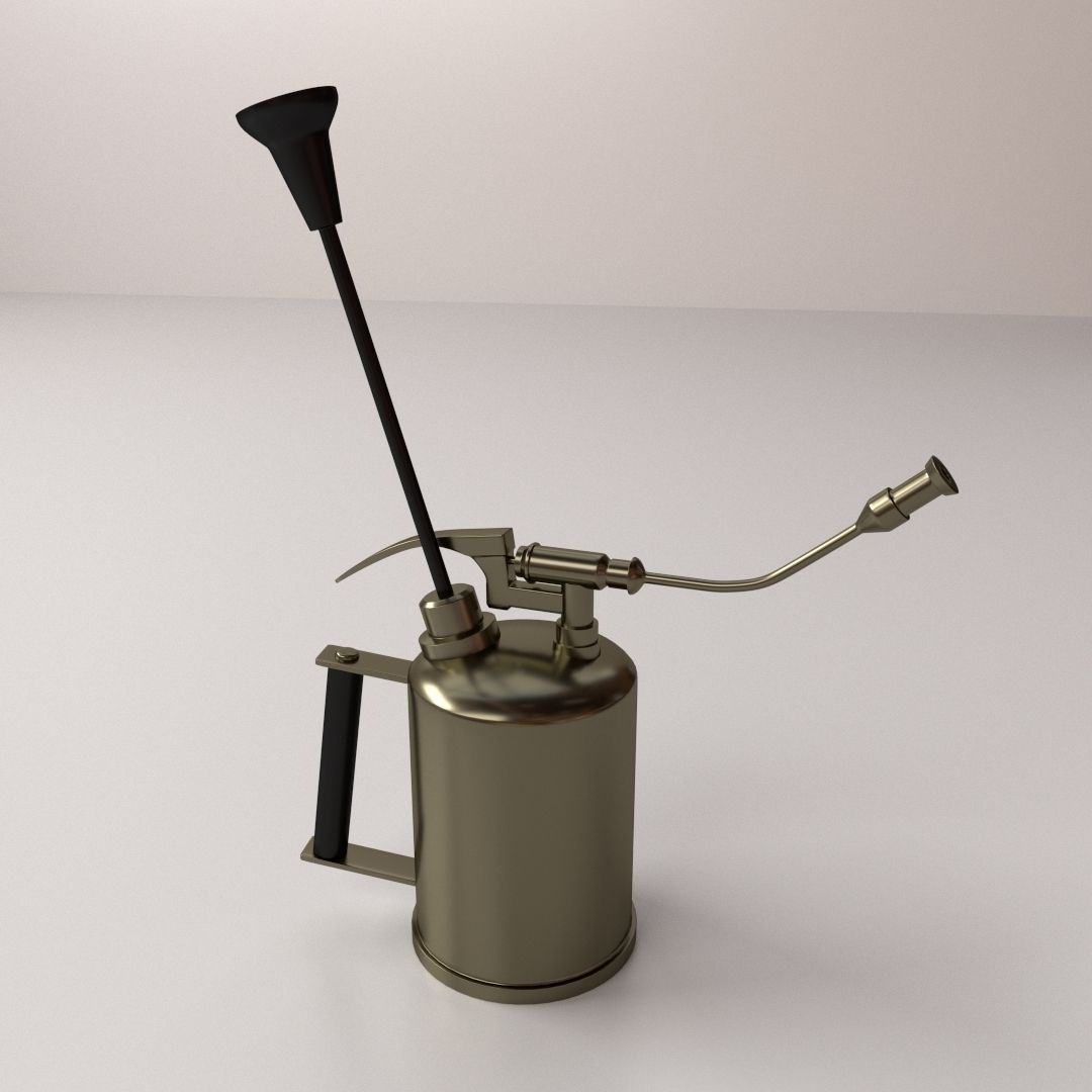 Antique garden sprayer 3d model 3ds fbx blend dae for Gardening tools 3d model