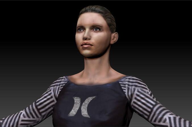 woman 43D model