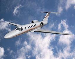 3D model Cessna Citation cj3 private jet