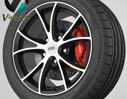 wheel Alcasta 3D Model