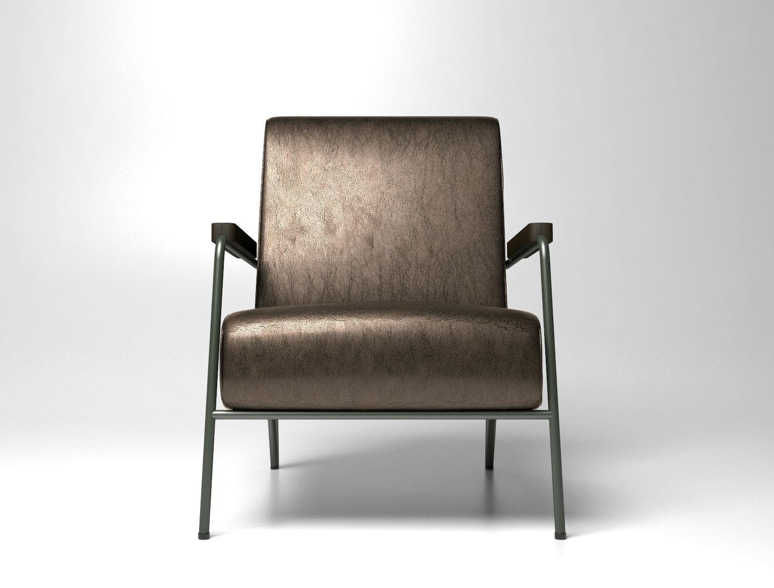 fauteuil de salon haut 3d model max obj. Black Bedroom Furniture Sets. Home Design Ideas