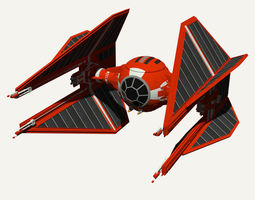 Royal Guard TIE Interceptor 3D Model